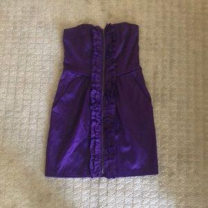 Dresses & Skirts - Purple strapless dress